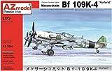 AZモデル 1/72 ドイツ空軍 メッサーシュミット Bf109K-4 戦闘機 プラモデル AZM7595