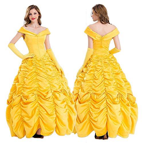monoii 美女と野獣 ラ ・ ベル コスプレ 衣装 ハロウィン コスチューム ドレス 442