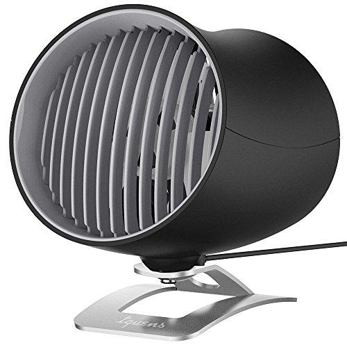 【Spigen x Tquens】 卓上扇風機 USB扇風機 ミニ扇風機 デュアルモーター 角度調整可能 2段階調節 by Spigen (ブラック)