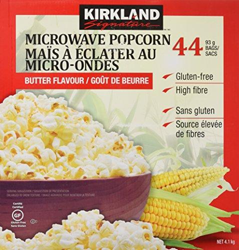 KIRKLAND (カークランド) シグネチャー 電子レンジ用ポップコーン 44袋 4.1kg