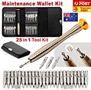 Ntrade Set 25 in 1 Interchangeable Precision Screwdriver Set Portable Repair Opening Tool Kit for Mobile Phone, PC Laptop,Ma