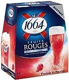 1664 クローネンブルグ フルーツルージュ - ラズベリー果汁入りビール 4.5% 250ml x 6本