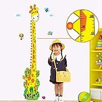 Yxjj1 新しい子供部屋ヨーロッパとアメリカのスタイルのかわいいキリンザル子供身長ステッカー取り外し可能な壁のステッカー(60X155Cm)