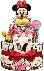 おむつケーキ [ 女の子/ディズニー : ミニー / 2段 ] パンパース (出産祝い に大 人気)3101 ダイパーケーキ 赤ちゃん ベビーシャワー ギフト 1歳 誕生日プレゼント