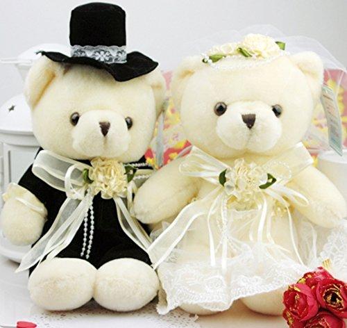 結婚パーティ 披露宴の演出に ウェディングベア ウェルカムベア 洋装 テディベア 完成品 (20cm)