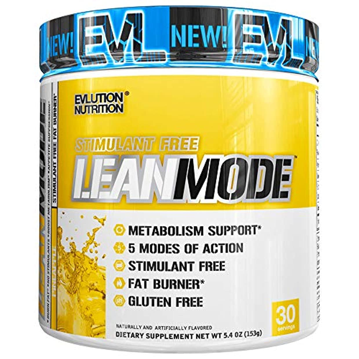 苦痛意図マダムLeanMode リーンモード パイナップル味 Evlution Nutrition(エボリューションニュートリション)30回分 153g[海外直送品]