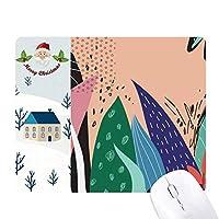 アロエ植物芸術の抽象的なパターン サンタクロース家屋ゴムのマウスパッド