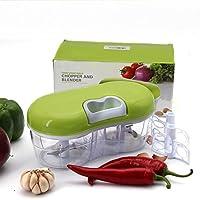 手動Food Chopper :コンパクト&強力なHand Held Vegetable Chopper/Mincer / Blender to Chopフルーツ、野菜、ナット、ハーブ、玉ねぎ、Garlics forサルサ、サラダ、Pesto、Coleslaw、Puree Twin Chopper COMINHKG114863