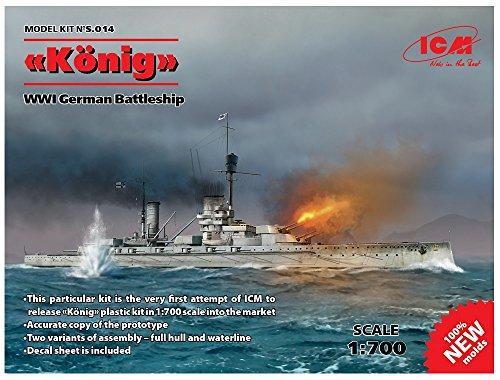 ICM 1/700 ドイツ海軍 弩級戦艦 ケーニッヒ プラモデル S014