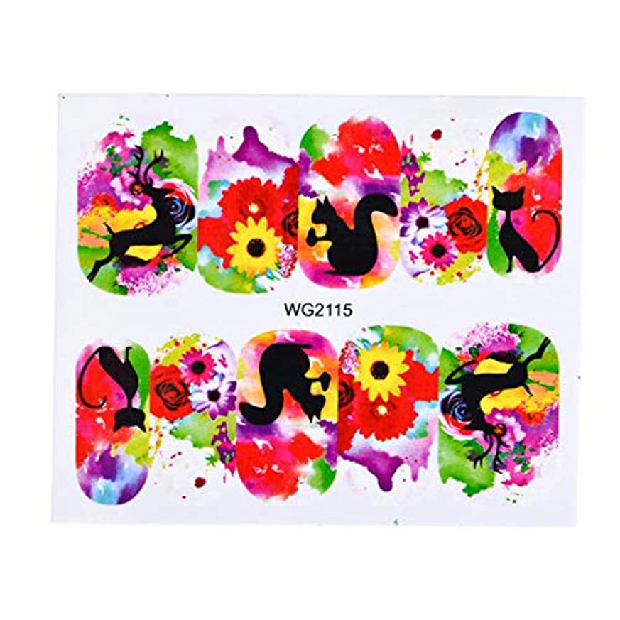 和解するこれらインキュバスSUKTI&XIAO ネイルステッカー 1枚の花のスライダーの水移動のステッカーの釘の芸術のピンクのばらの花のステッカーの女性の美の構造は釘の装飾、Wg2115を覆います