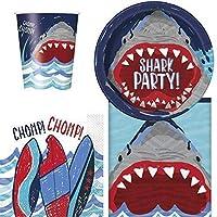 8用サメパーティー用食器パック