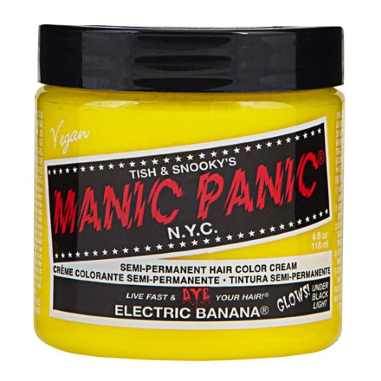 警察署軽減するとティームマニックパニック MANIC PANIC ヘアカラー 118mlエレクトリックバナナ ヘアーカラー
