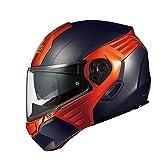 オージーケーカブト(OGK KABUTO)バイクヘルメット システム KAZAMI フラットブラック/オレンジ (サイズ:XL) KAZAMI