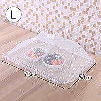 CHENGYI ホワイトフードカバーフライフード付きダイニングテーブルカバーラウンドホーム防塵カバー (サイズ さいず : B)