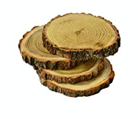ハンドメイド木製コースターのセット素朴な自然スタンドfor TeaコーヒーLatte Cup ブラウン
