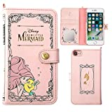 iPhone7 ケース 手帳型 カバー ディズニー カード収納 鏡 ストラップホール付き / リトル・マーメイド