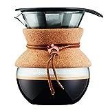 【正規品】 BODUM ボダム POUR OVER コーヒーメーカー 500ml コルク 金属フィルター 11592-109