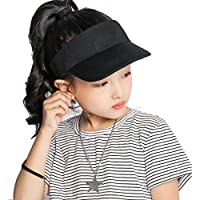 Kids Visor Sun-Hat Cotton Sports - Sun Protection Summer Hat Fit 4-10 Years