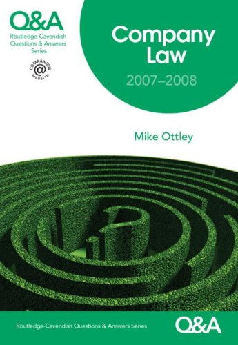 Download Q&A Company Law 2007-2008 (Questions and Answers) 1859419593
