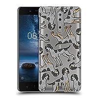 Head Case Designs ブルーティック・クーンハウンド ドッグブリード・パターン 13 ハードバックケース Nokia 8