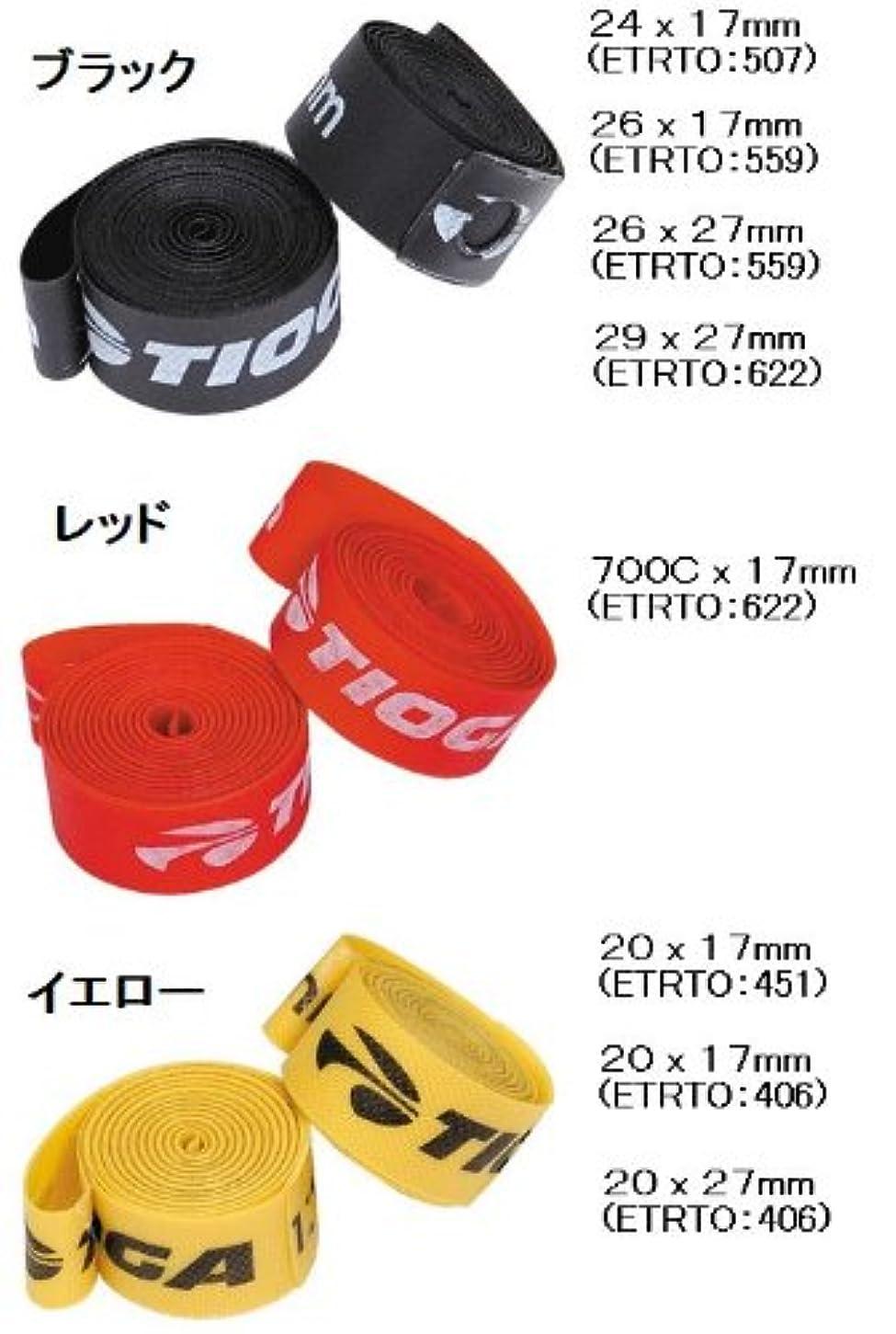 弁護士退屈効能あるTIOGA Nylon Rim Tape (リムテープ) タイオガ ナイロンリムテープ 24x17mm/507/ブラック/TIF01900