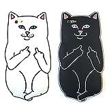 【セット売り】 Fuck You Cat iPhone5/5s iPhone6/6s 4.7インチ Plus 5.5インチ ソフトケース / ファック ユー キャット 猫 ネコ ねこ キャラクター アイフォンケース iPhoneケース スマホケース (iPhone6/6s(4.7))