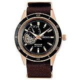 [セイコーウオッチ] 腕時計 プレザージュ Basic line: Style60's セミスケルトン SARY192 メンズ ブラウン