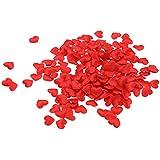 Baosity 約1000枚 花びら 造花 ハート型 フラワー ウェディング  結婚式 紙吹雪 5色選べる - 赤