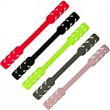5 Pcs Adjustable Strap Extenders for Face Mask, Silicone Ear Ties with Buckle Hooks, Elastic Protective Holder Grips Accessor