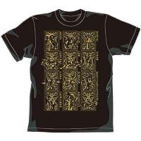 聖闘士星矢 黄金聖衣Tシャツ ゴールドVer. ブラック サイズ:M