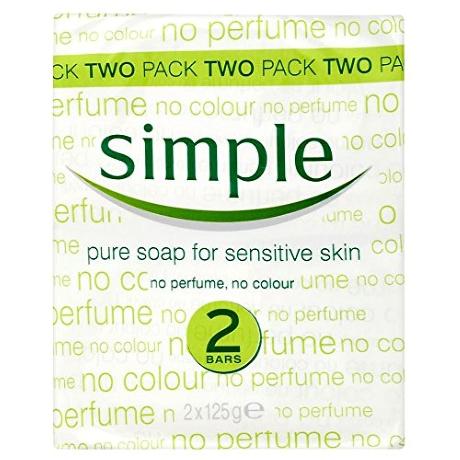時系列キャンドルバンクSimple Pure Soap for Sensitive Skin (2x125g) 敏感肌のためのシンプルな純粋な石鹸( 2X125G )