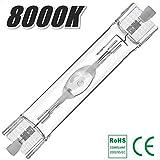 アクアリウム メタルハライドランプ 150W 7000K-20000K 両口金RX7s-24 (8000K)