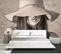 Mbwlkj 女の子の部屋の写真の壁紙壁画家の装飾の壁紙3Dのリビングルームの寝室の自己接着壁紙-200cmx140cm