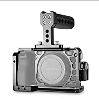 SMALLRIG Sony A6500専用ケージセット トップハンドル付き HDMIクランプ付き DSLR 装備 拡張カメラケージ 軽量 取付便利 耐久性 耐食性-1968