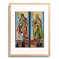 ハンス・バルドゥング 「Die hll.Nikolaus von Bari und Ludwig von Toulouse.」 額装アート作品