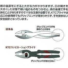 KTC Combination Pliers Soft Grip Type PJ-200 PJ200 PJ-200-S New Japan