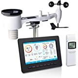 ECOWITT HP2551 WiFi Weather Station Large TFT Screen with Solar Powered 7-in-1 Outdoor Sensor, UV Light, Moon Phase, Sunrise/