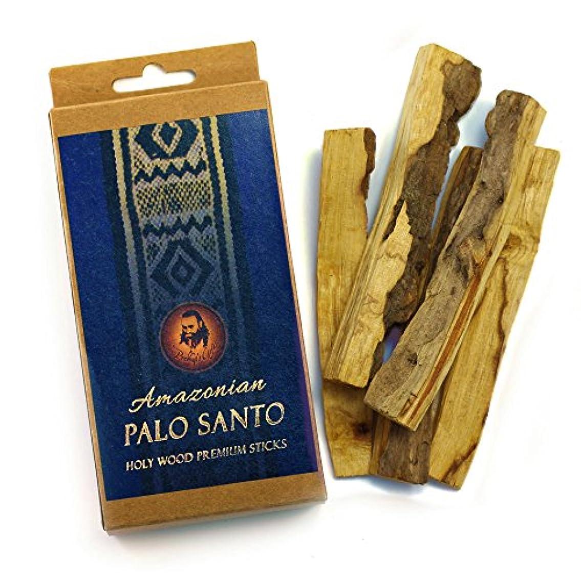 貼り直す無ページェントPalo Santo Raw Incense木製 – プレミアムAmazonian – 5 Sticks