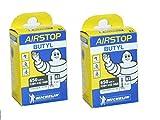 2本セット Michelin(ミシュラン) Air Stop B3 650A-Bx28~44c BUTYL 英式インナーチューブ (バルブ長 34mm) [並行輸入品]