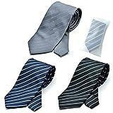 グリニッジ ポロ クラブ 洗えるネクタイ 3本セット 洗濯ネット1個付き 撥水加工 ストライプ (pa)