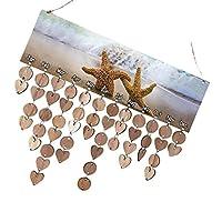 Prettyia カレンダーボード 木製ボード ロープ付き 木製ディスク 装飾 飾り 壁掛け 誕生日 記念日 パーティー プランナーボード ギフト インテリア 6タイプ選べ - #3