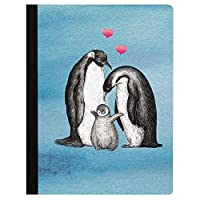 Tree-Free Greetings Boho Penguin Family Soft Cover 140 Page Recomposition College Ruled Notebook 9.75 x 7.25 Inches (CJ47031) [並行輸入品]