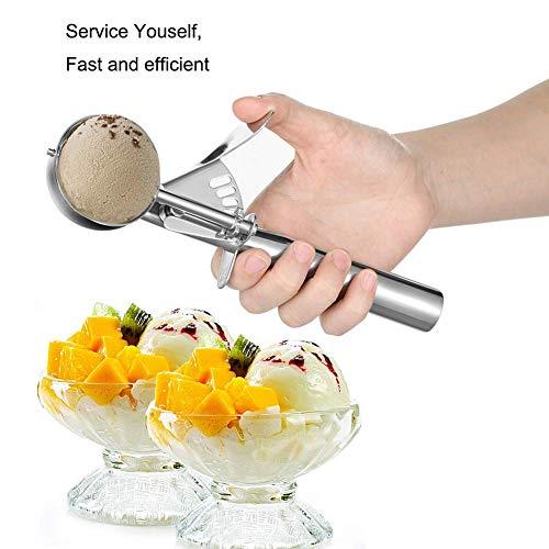 アイスクリームスクープ、MAGICYOYOステンレススチールトリガークッキースクープスプーン New Version Set of 3