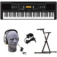 Yamaha PSR-EW300 PKY Premium Keyboard Pack with Power Supply Bolt-On Stand and Headphones [並行輸入品]