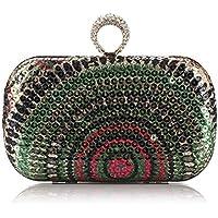 94d363b256bb 女性のヴィンテージシークインプリント幾何学模様ビジネスクラッチウェディングハンドバッグ財布レディースイブニングディナー