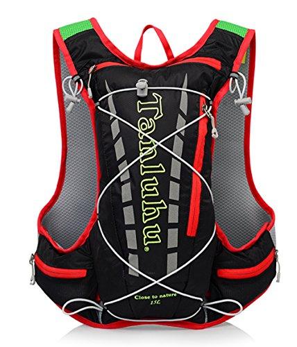 Smiletop サイクリングバッグ 自転車バックパック 防水 軽量 15L ランニング、登山、釣りなどに適用(ブラック)