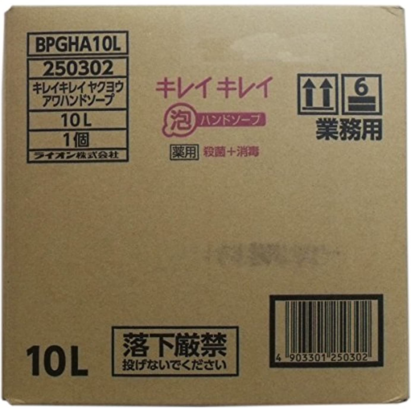 聴衆永久土砂降り業務用キレイキレイ 薬用泡ハンドソープ 10L×10個セット