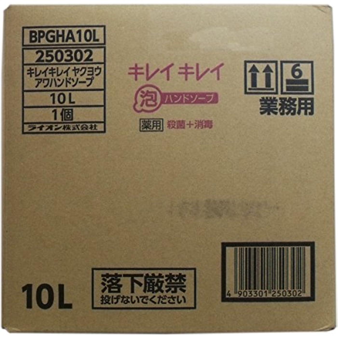 給料財政デッドロック業務用キレイキレイ 薬用泡ハンドソープ 10L×10個セット
