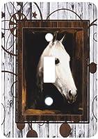 3drose LLC lsp _ 127613_ 1Vintage Horse Portraitから1910by Caspar von Reth Restored with Western背景Single切り替えスイッチ