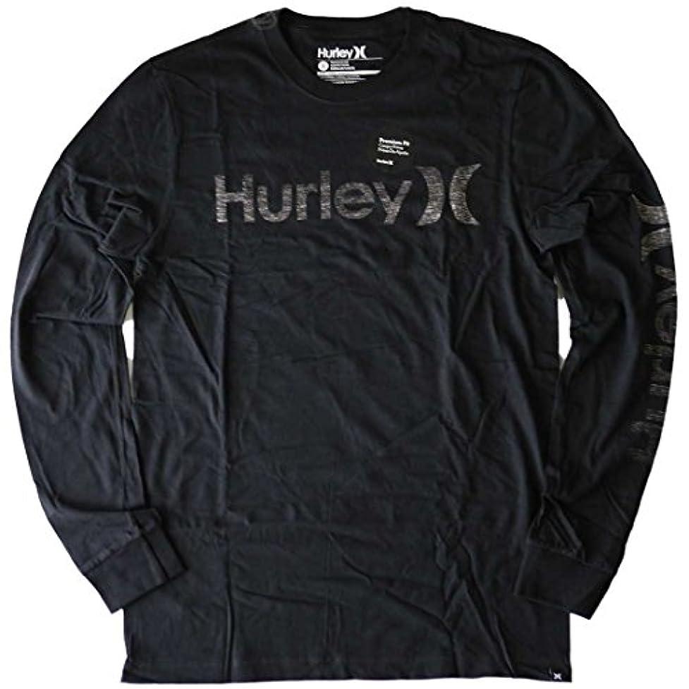 三十飛行場フロンティアハーレー Tシャツ メンズ 長袖 ロンT ロゴ擦れ 黒 ブラック HURLEY 5059 MTS0005570